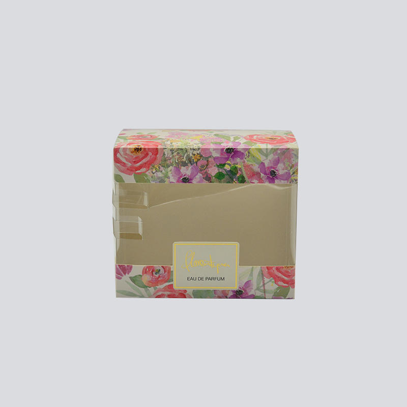 Attractive cosmetics/luxury commodity packaging box with PET window