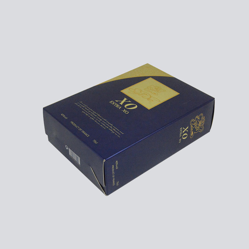 Luxury alcohol Packaging with gold foil Stamping craft
