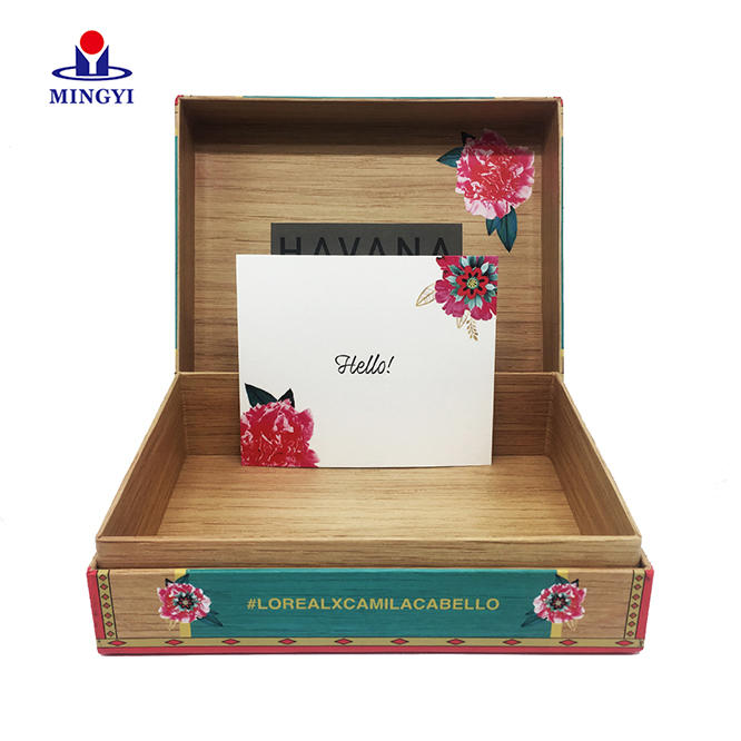 ECO-friendly biodegradable clam shell cosmetic packaging boxes with high quality print