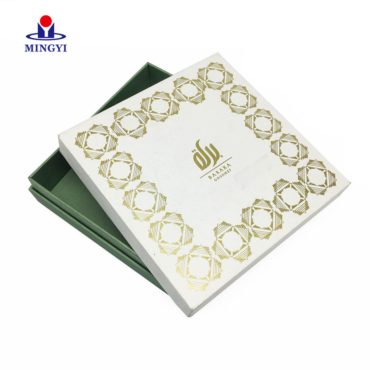 New customized design luxury square gift box with lid costom