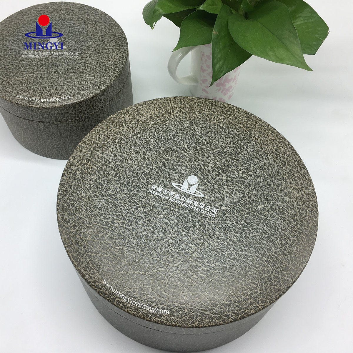 Mingyi design customiezd logo circle cardboard  Packaging with lid