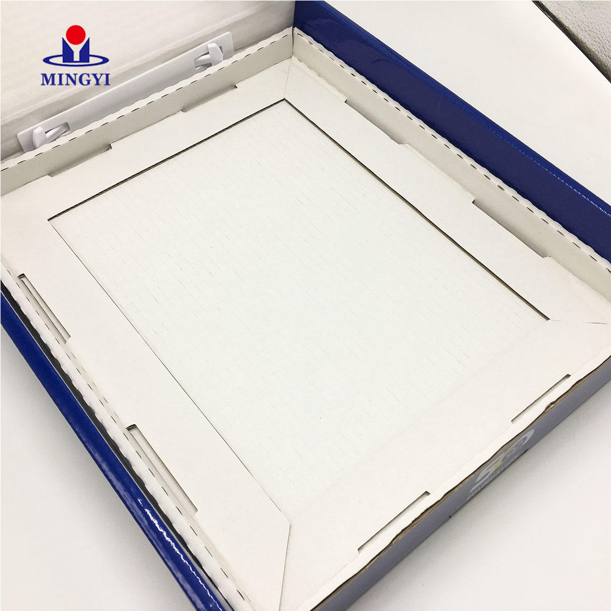 High quality pantone print hand make corrugate clam shell packaging boxes for envelope packaging