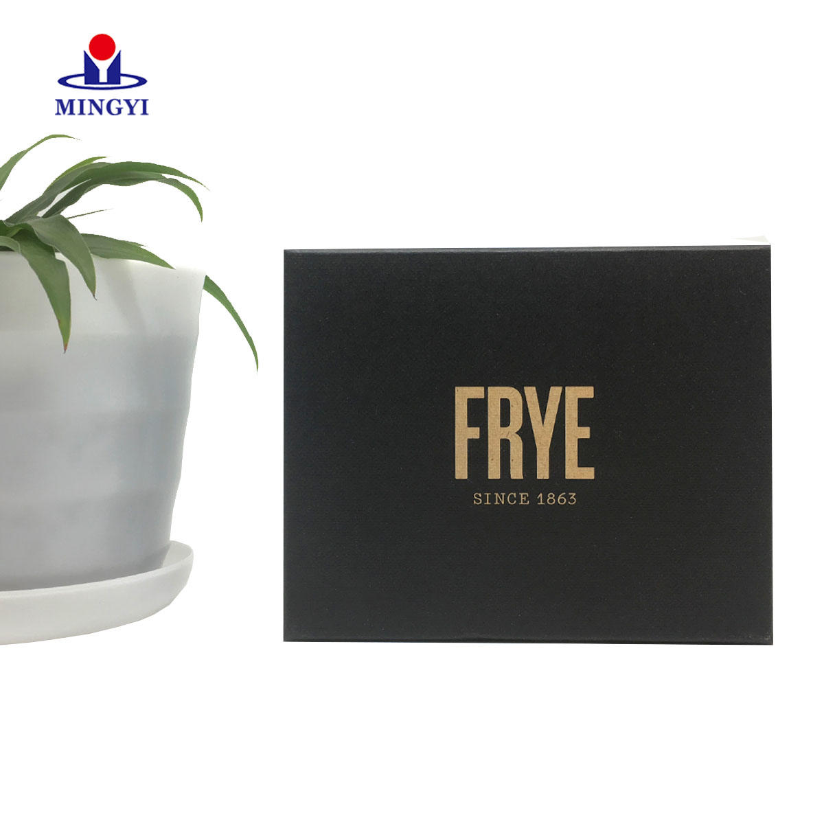Custom black gift card packaging box with lid