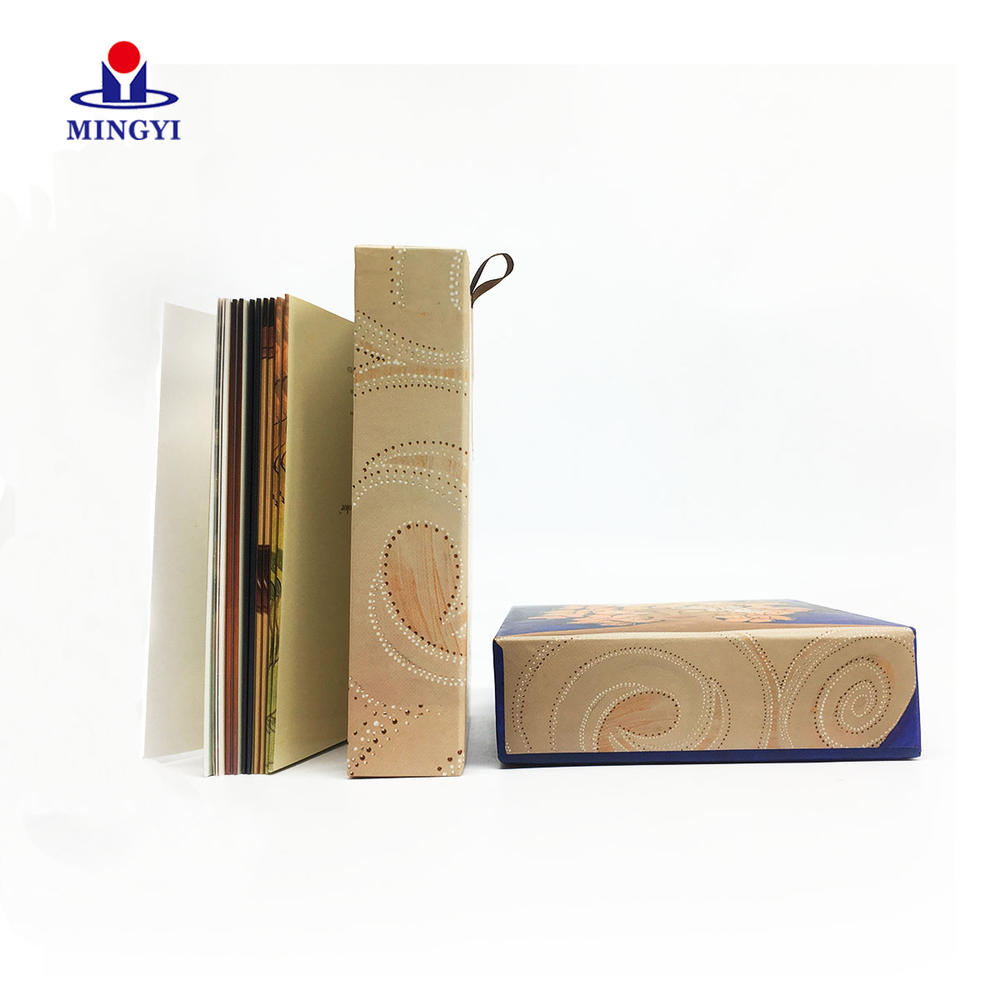 Small size custom souvenir greeting card packaging drawer box custom logo with lid for book