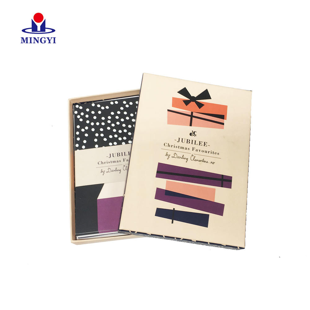New design flat Gift packaging box with Lid for commemorative book