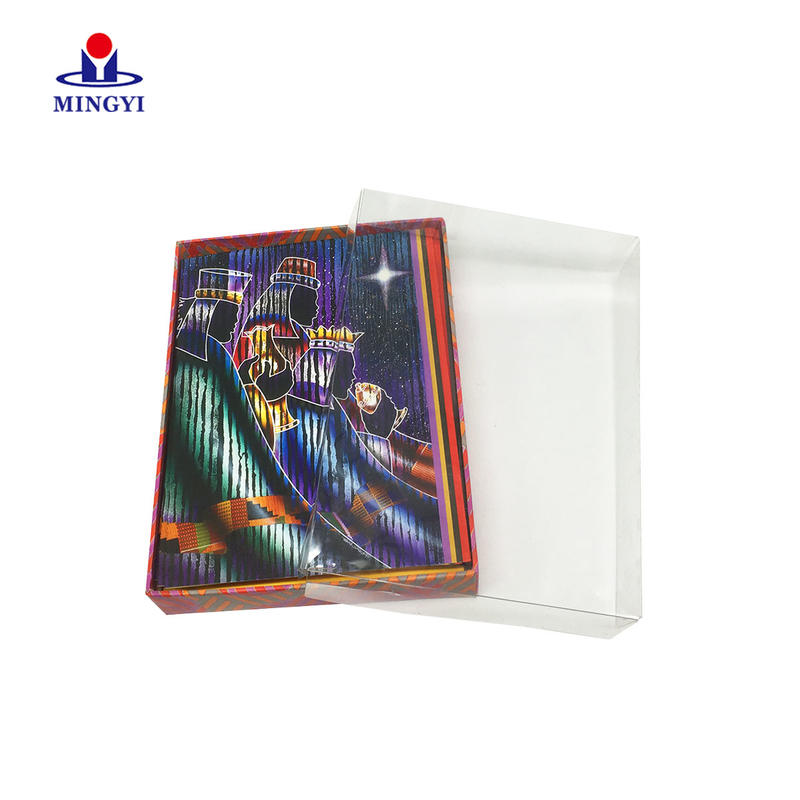 Luxury decorative card packaging box with PVC window make in china