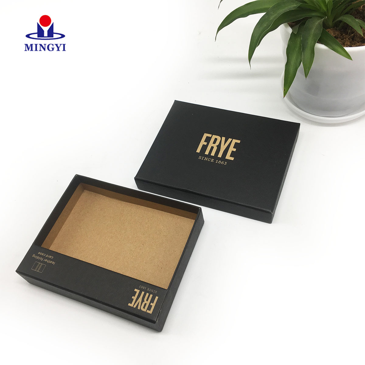product-Custom black gift card packaging box with lid-Mingyi Printing-img