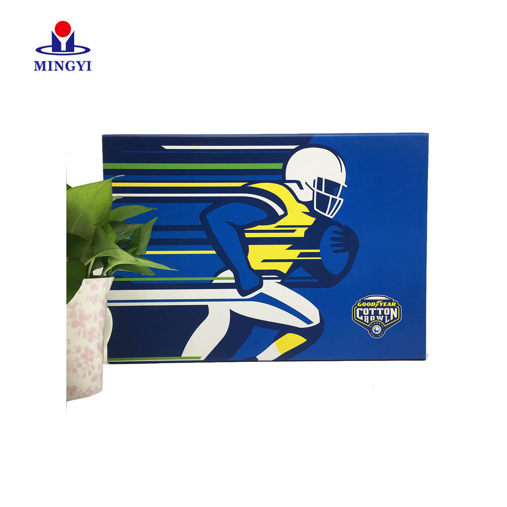 New design luxury flat clam shell souvenir cloth packaging for well-known brand