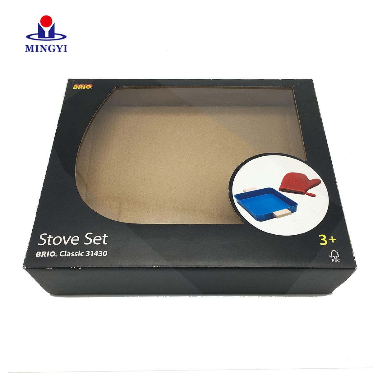 New design luxury flat gift packaging box with PVC window
