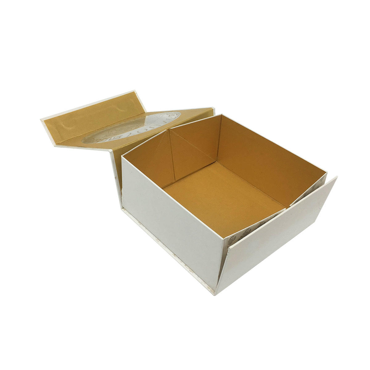New custom design foldable cosmetic sample packaging white box packaging with PVC window