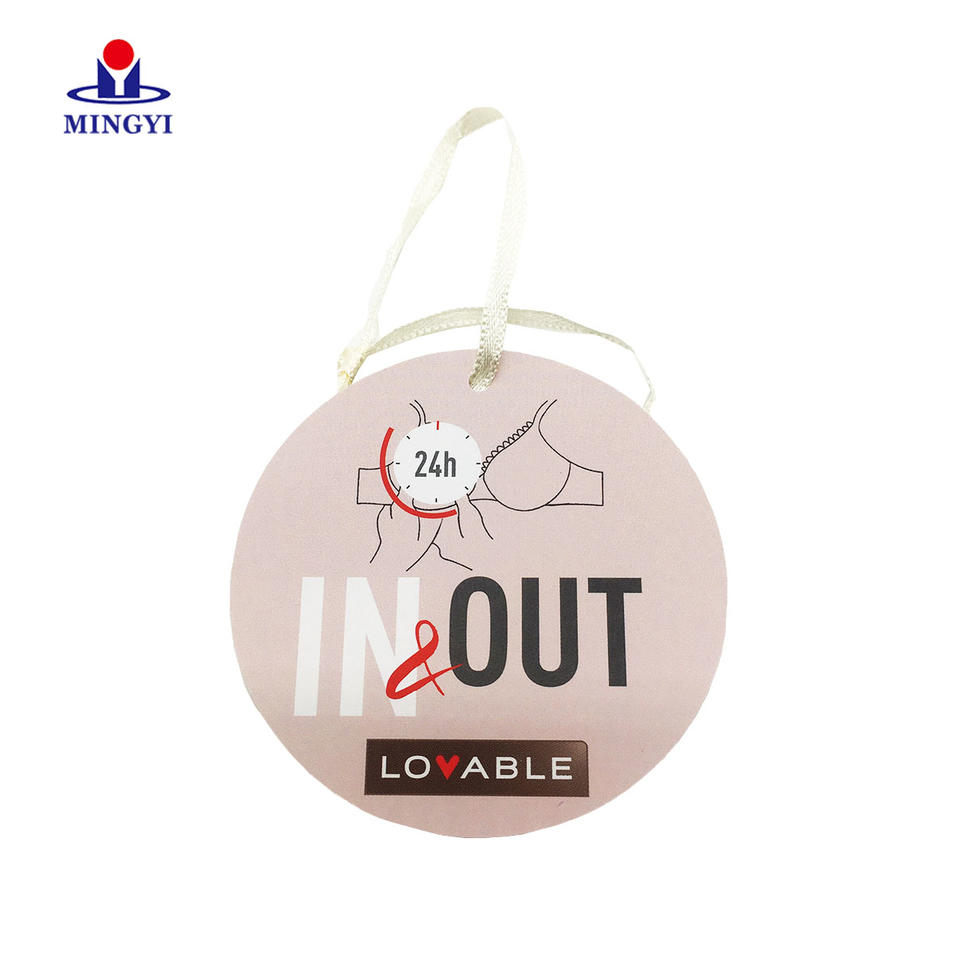 High quality PP Lamination cmyk printing label tag with ribbon