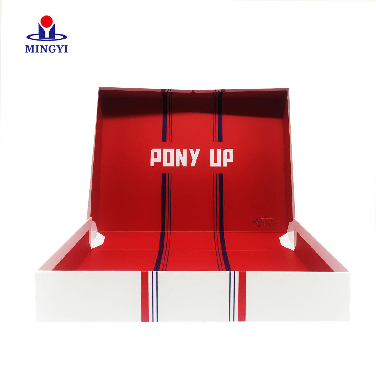 Customized clamshell magnetic closure recycled paper gift box custom paper box speaker