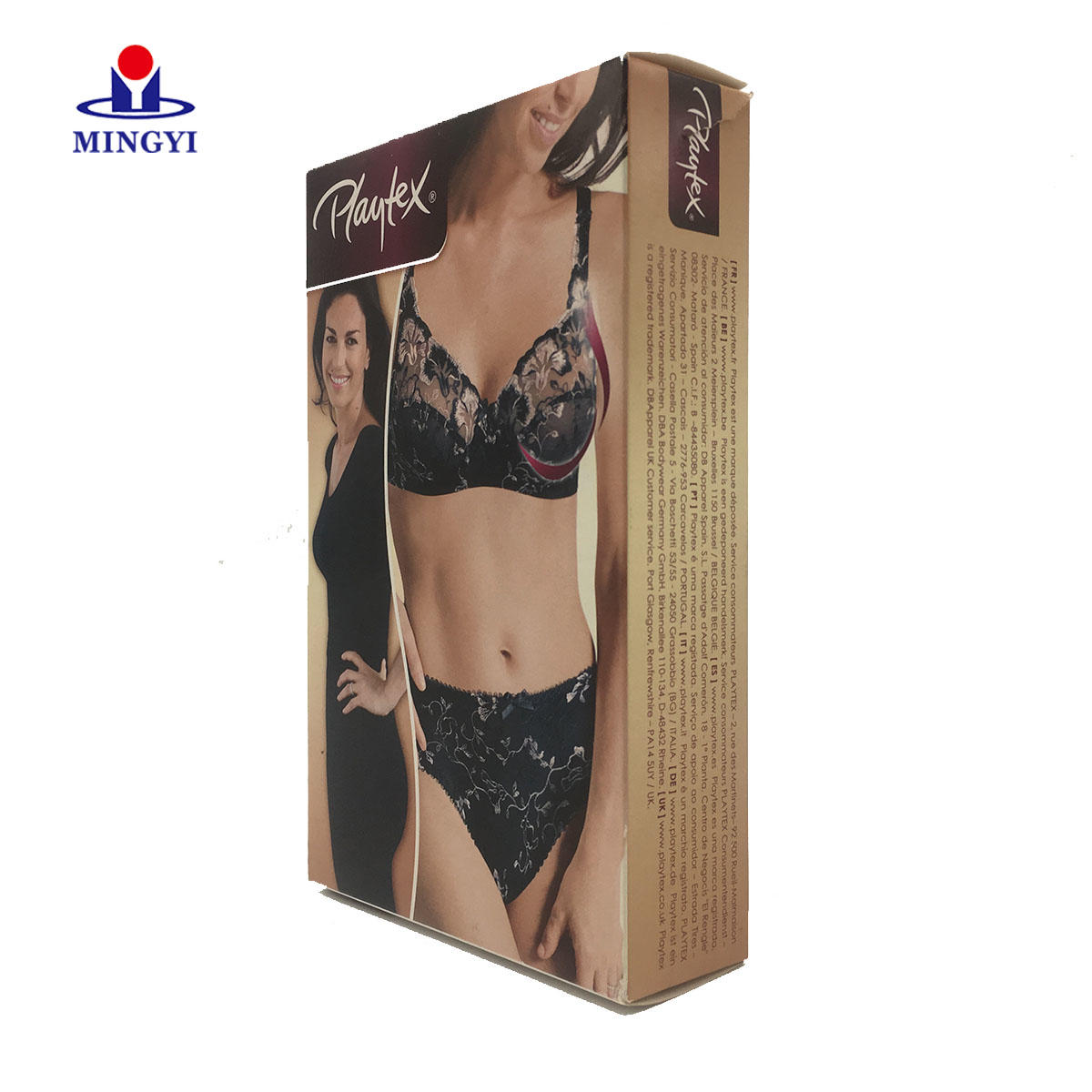 Well-know brand customized underwear paper packaging box high quality box