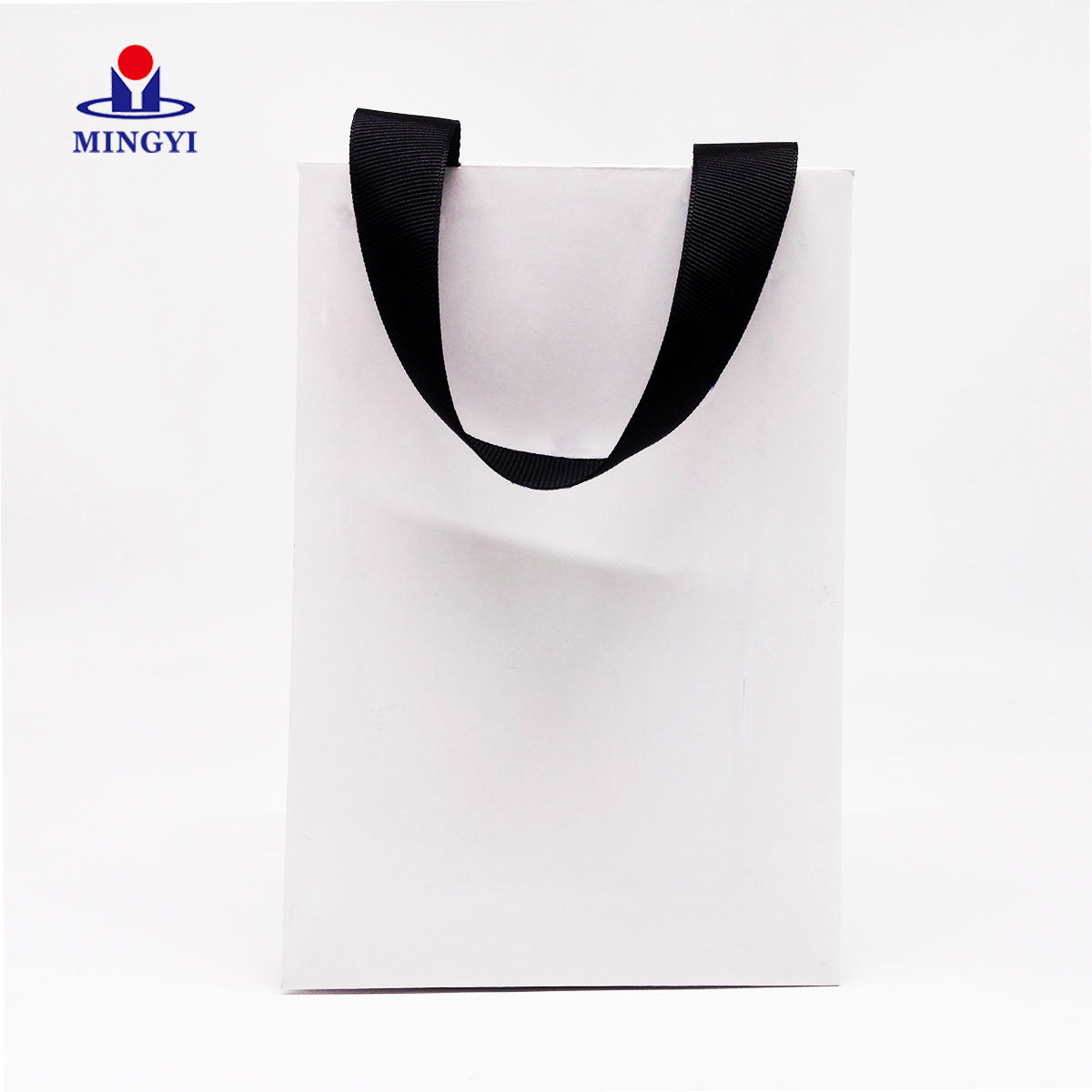 product-Customized luxury paper bag white sample with ribbon Small size-Mingyi Printing-img