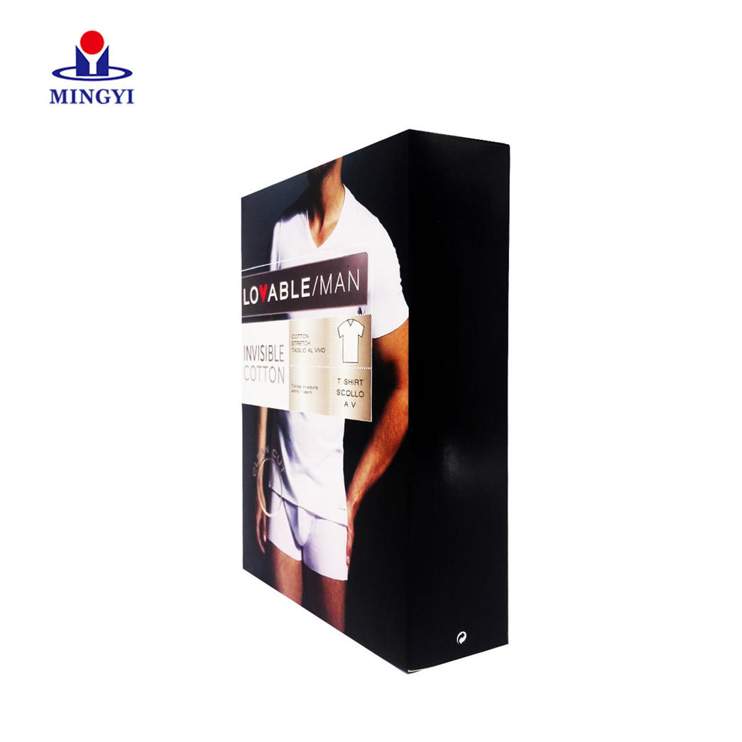 Soft t-shirt packaging boxes with high quality CMYK and Pantone color