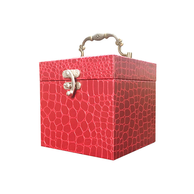 Luxury high quality paperboard clam shell cosmetic packaging box with mirror