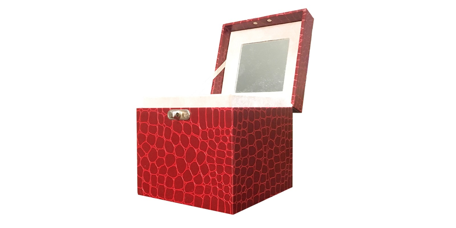 product-Mingyi Printing-Luxury high quality paperboard clam shell cosmetic packaging box with mirror