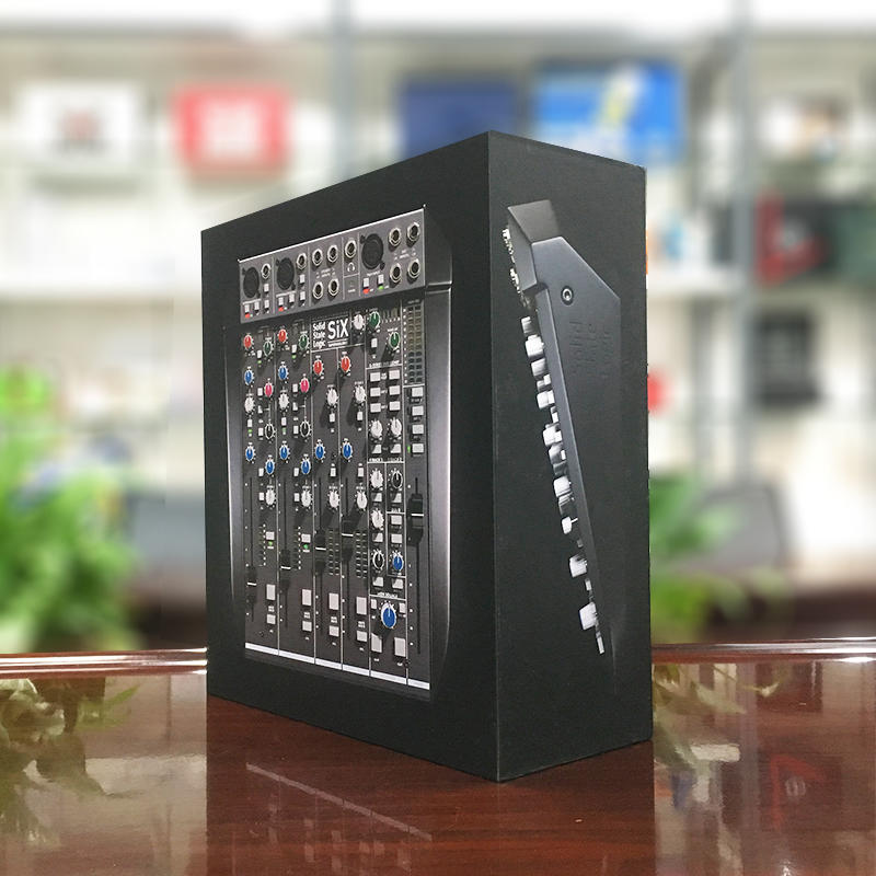 High quality rigid paperboard black matt digital packaging box for sound Module