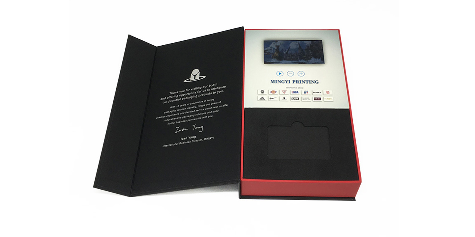 product-Mingyi Printing-Custom high quality lcd screen gift box for VIP client to promote corporate