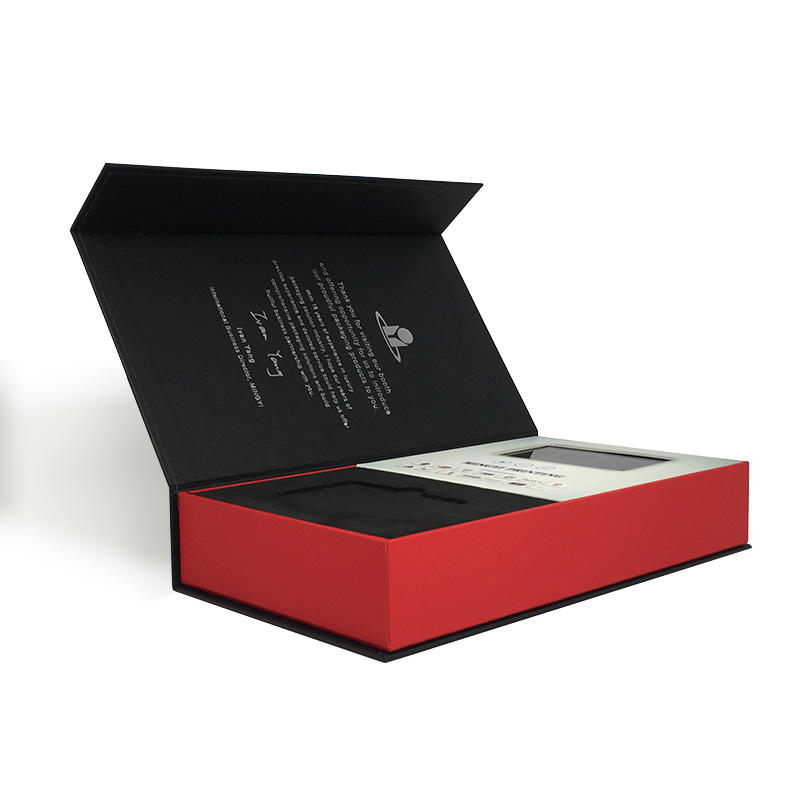 Custom high quality lcd screen gift box for VIP client to promote corporate culture
