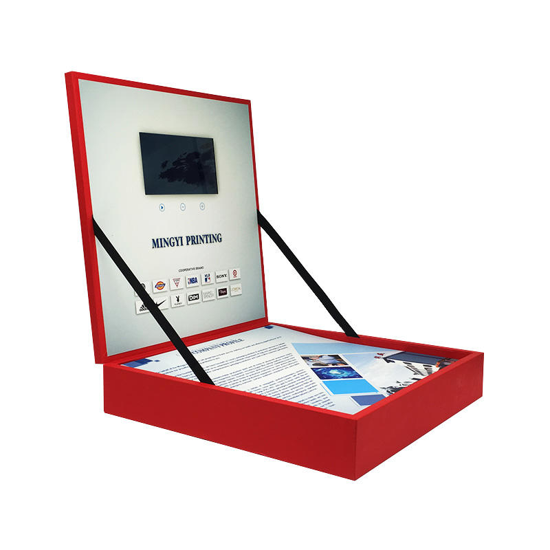 Souvenir gift box for vip client luxury LCD screen video play gift box