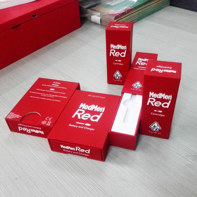 High quality rigid structure childproof lock marijuana retail packaging boxes custom