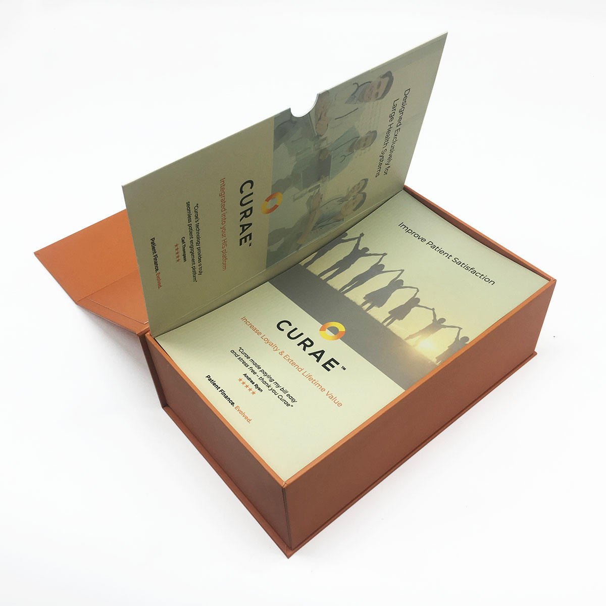 High quality book shape magnetic gift box with sponge and mask