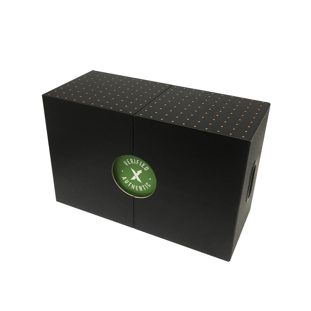 High quality large size rigid shoe packaging box with drawer structure double side slip open