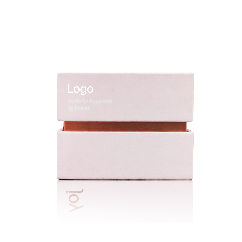 Custom high quality fair price 8.5*8.5* cm THC cartridge lid and base packaging box