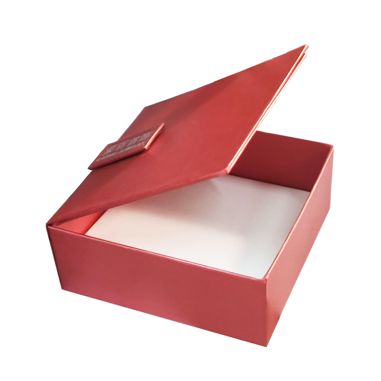 ECO friendly high quality luxury clam shell paper jewelry gift box
