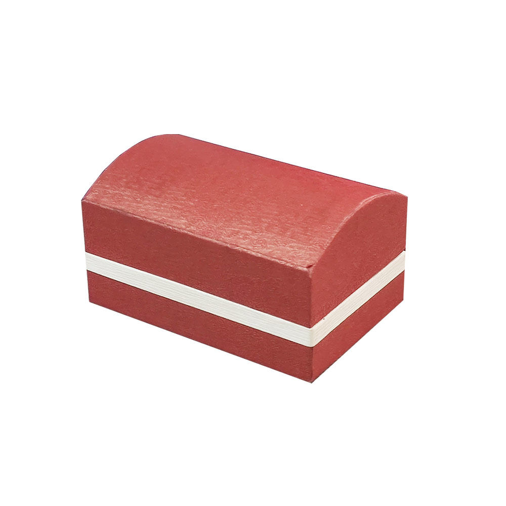 ECO friendly rigid clam shell paper ring jewelry packaging boxes