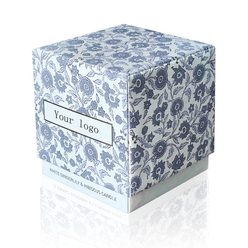 Custom Cardboard Candle Gift Box with Foam Inserts Luxury Logo Printed Candle Packaging Boxes