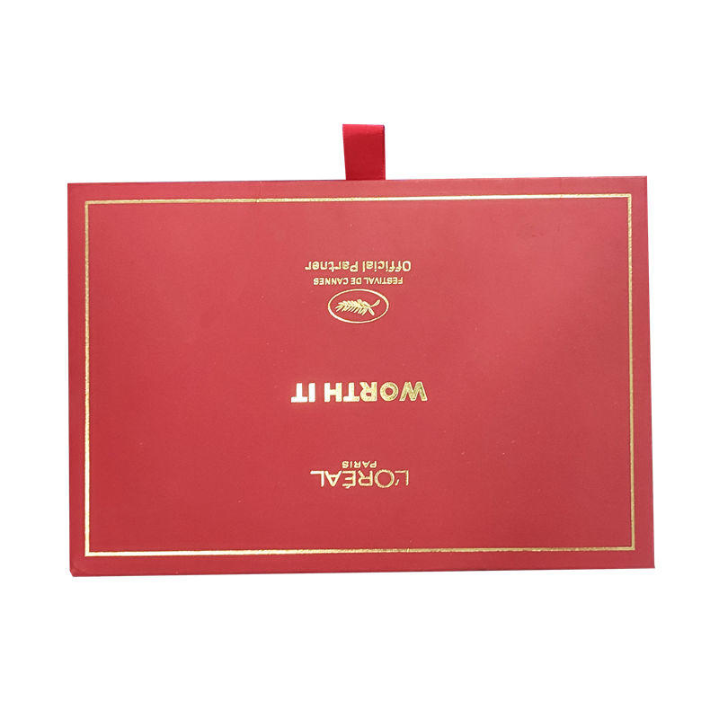 High quality luxury drawer packaging gift box for cosmetic With FSC certification