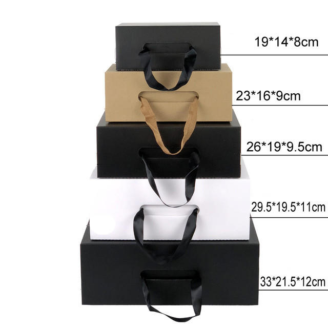 China supplier custom eco friendly kraft shoe packaging box with ribbon