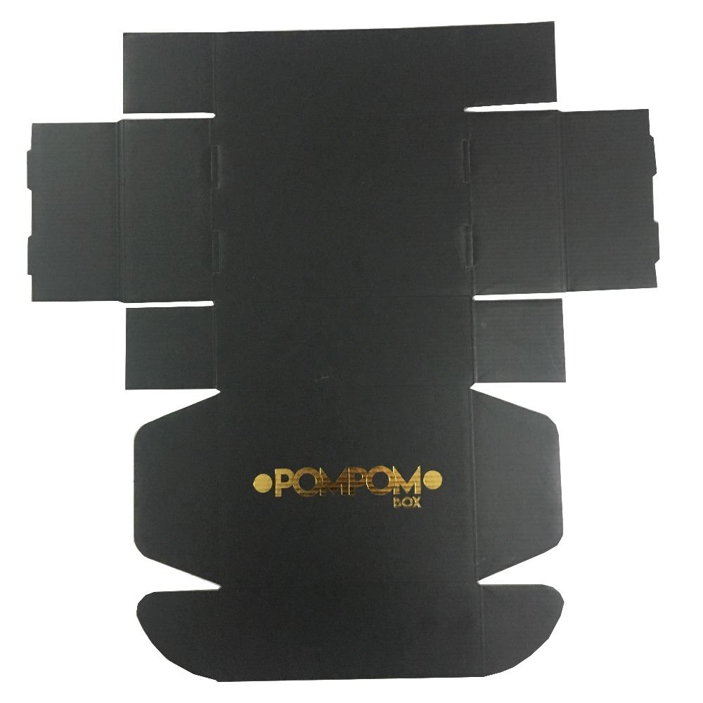 product-Black custom printing corrugated kraft cardboard paper carton box for shipping-Mingyi Printi