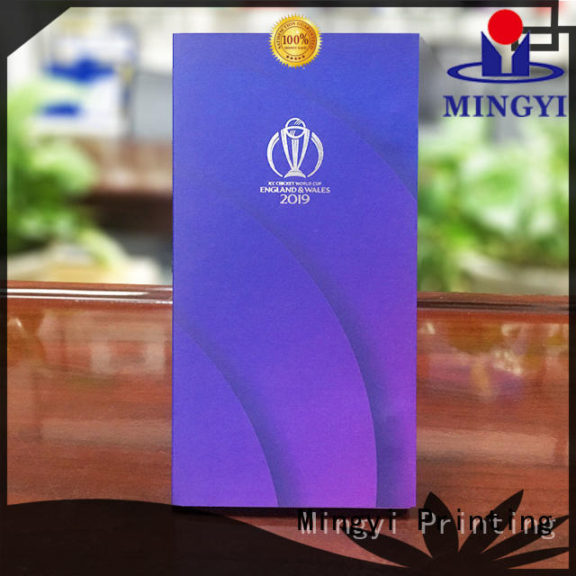 Mingyi Printing colorcards for business for gift
