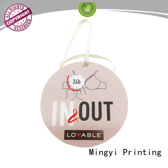 costeffective garment tags from China for present Mingyi Printing