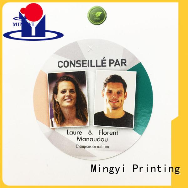 Mingyi Printing Custom custom product labels company for gift
