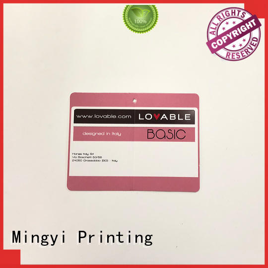 wallet garment tags with good price for candy Mingyi Printing