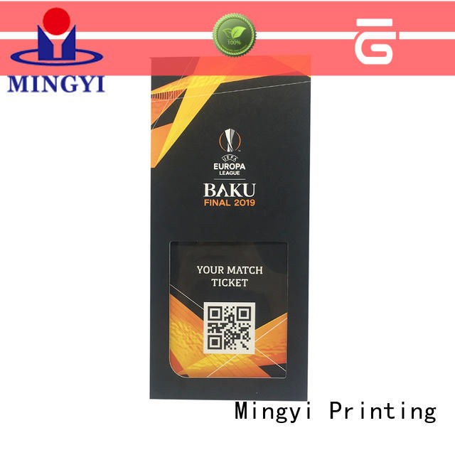 OEM Packaging Factory From China fair price high quality ticket case custom paper wallet with PET window and magnet closure print luxury CMYK color