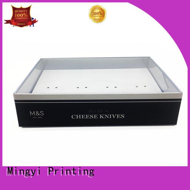 wooden Custom pvc watch gift box base Mingyi Printing
