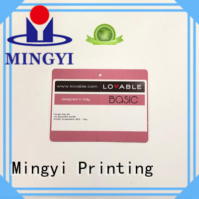 Mingyi Printing Best garment tags Suppliers