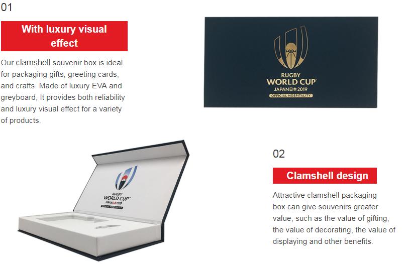 news-2019 new design clamshell souvenir packaging box use gold hot stamping-Mingyi Printing-img