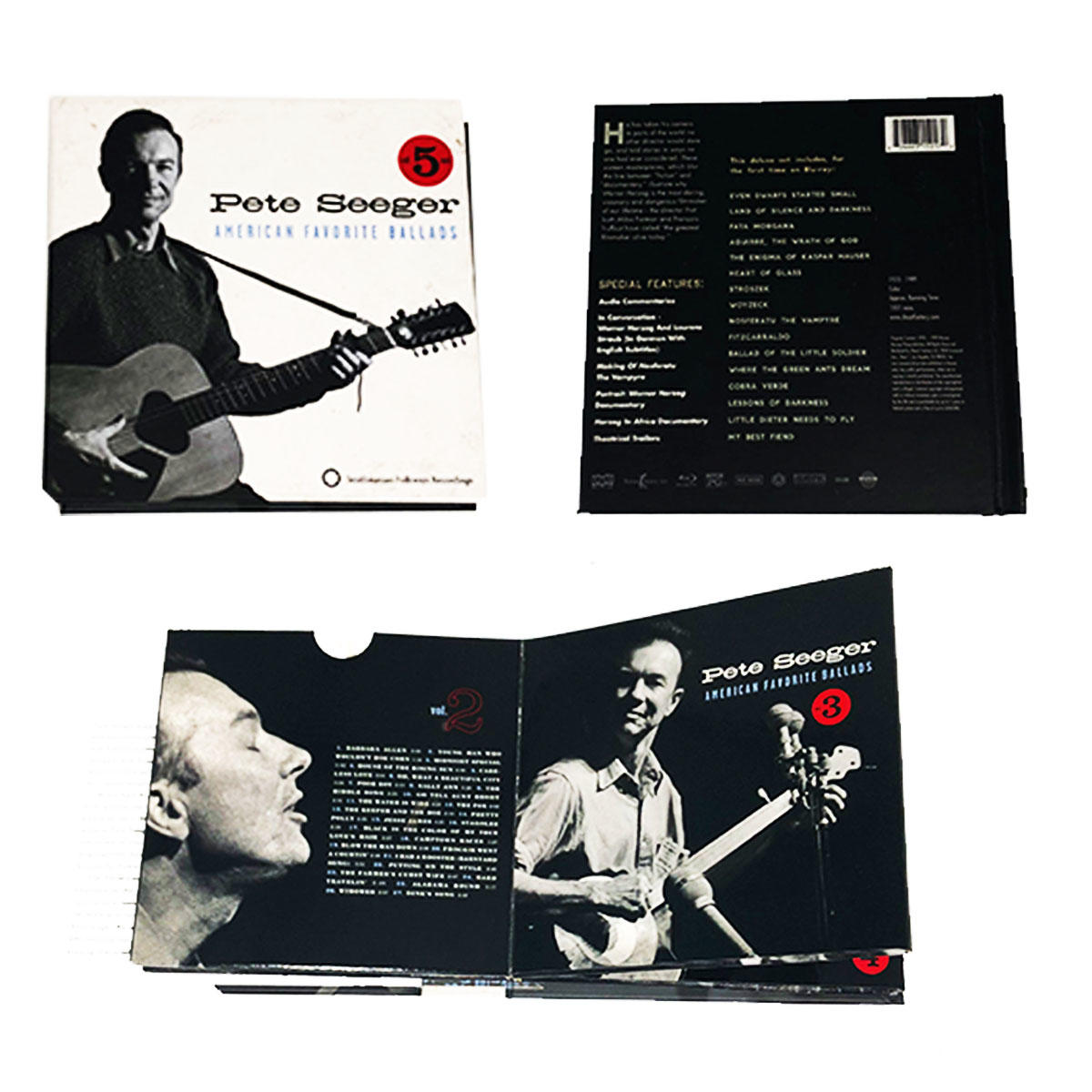 Custom high quality complex structure paper CD case with very nice printing color