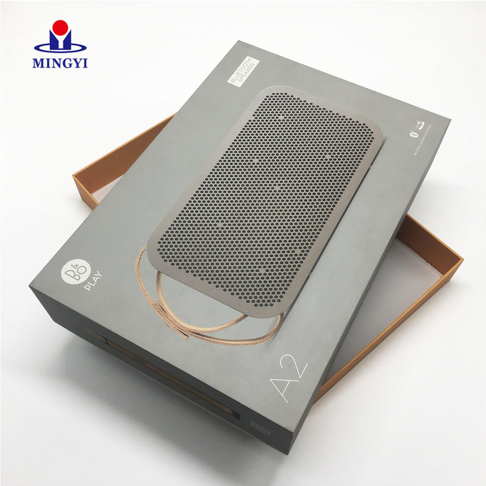 High quality structure speaker product packaging boxes with accurate CMYK and Pantone craft