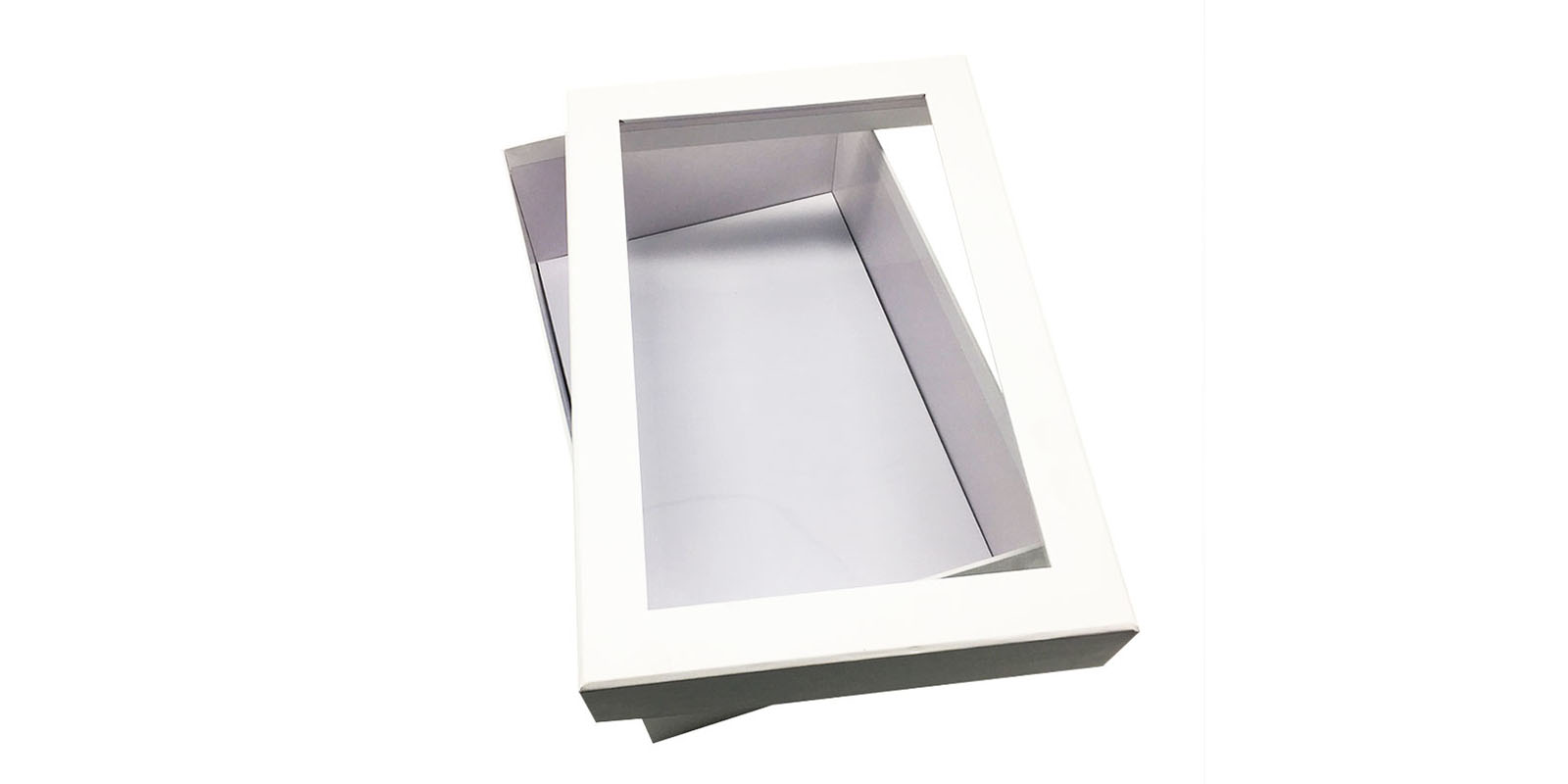 product-Mingyi Printing-Custom cheap corrugeta packaing box with PVC window with lid white paper box
