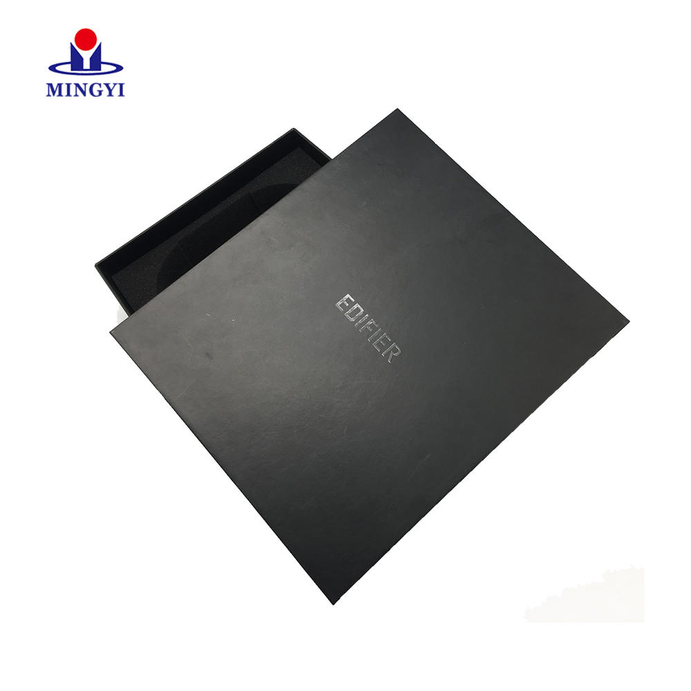 High quality structure digital product packaging headphone earphone headset packaging boxes paper packaging box with lid open