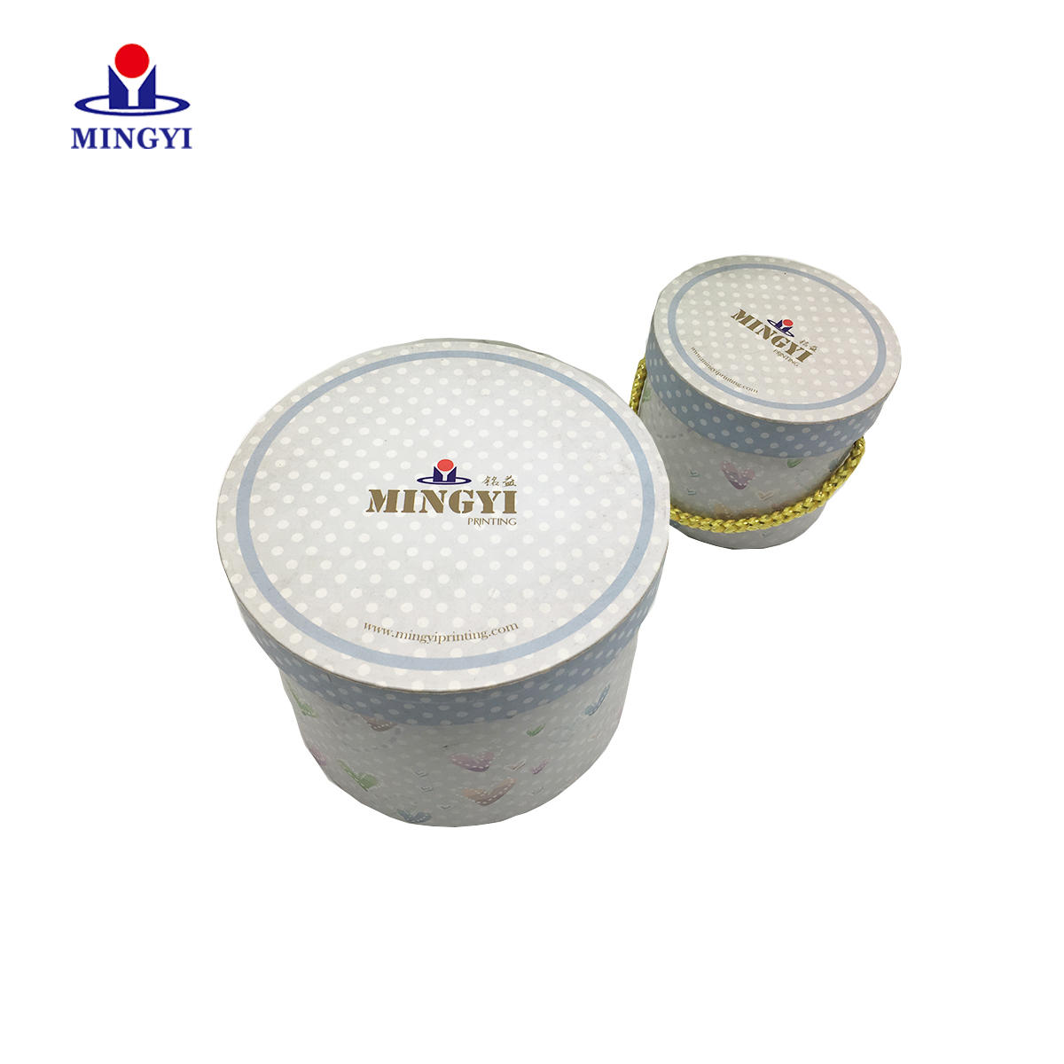 New design luxury cake gift box with lid circle packaging box