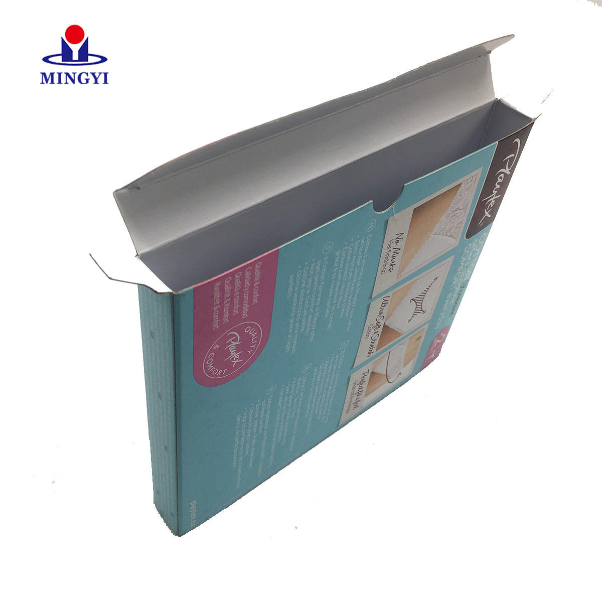2019 New design famous brand luxury underwear packaging box with pvc window