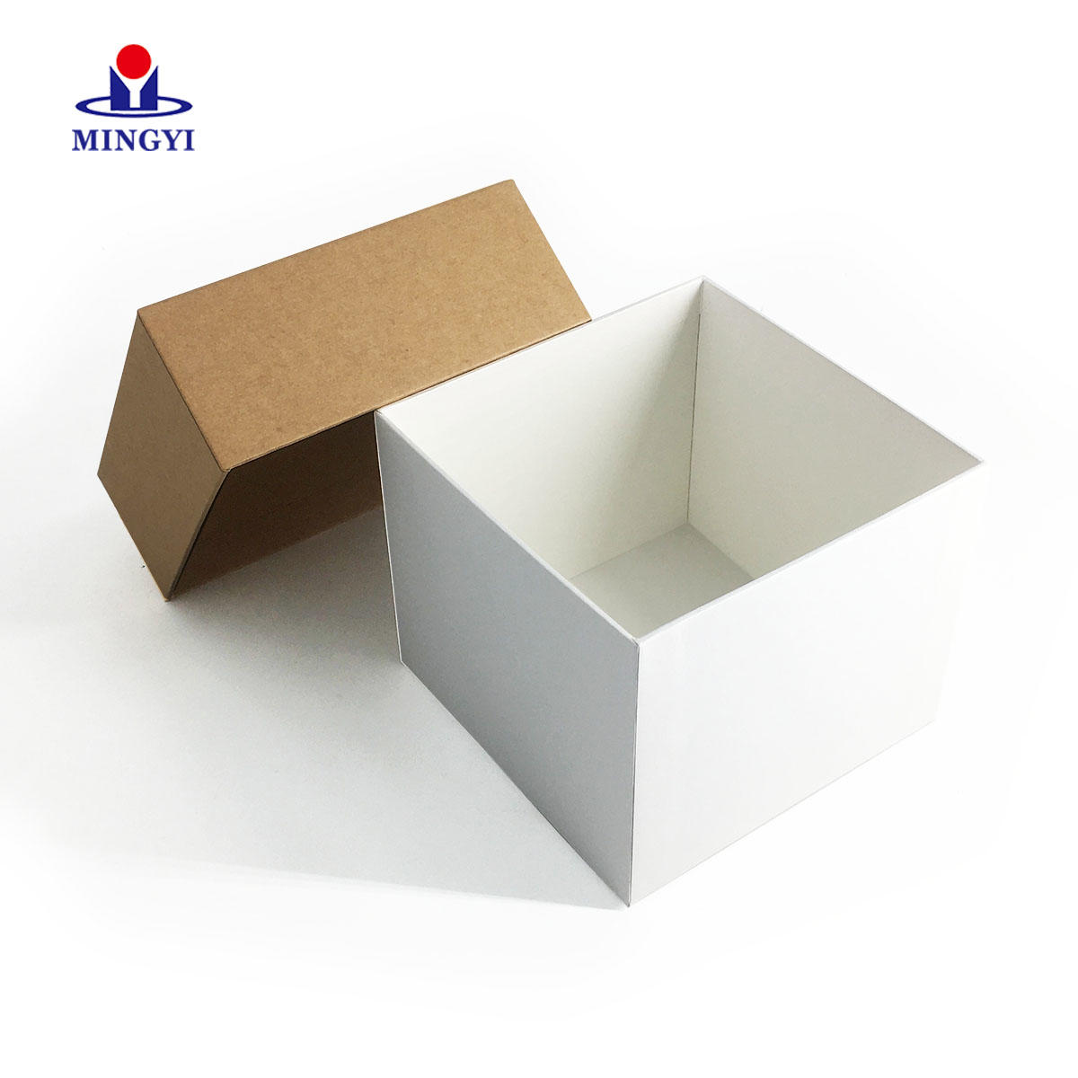 New design square gift packaging box with lid open used for souvenir make in china